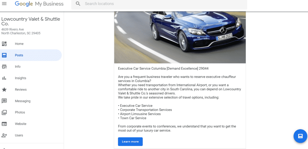 Airport Transfer Search Engine Marketing
