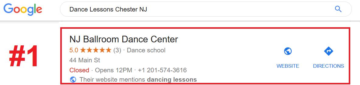 Dance Lessons SEO