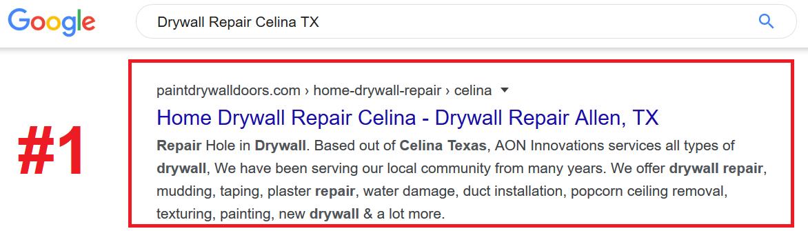 Drywall Repair SEO