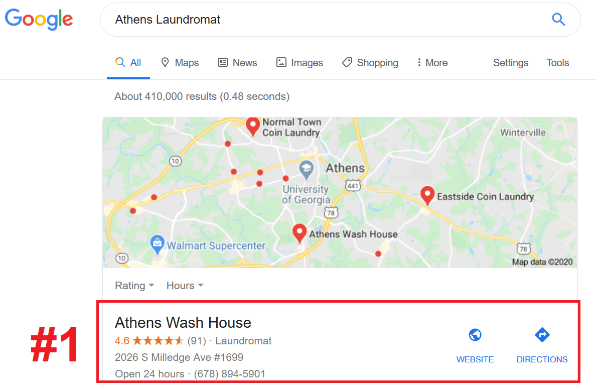 Laundromat Search Engine Optimization