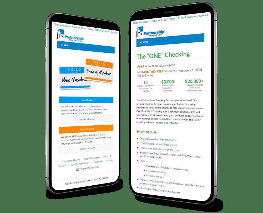 Mobile Website Mountain Lakes