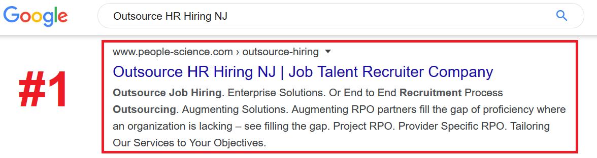 Outsource Hiring SEO