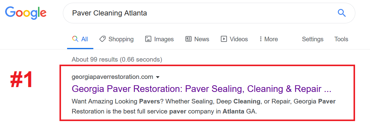 Paver Cleaning SEO