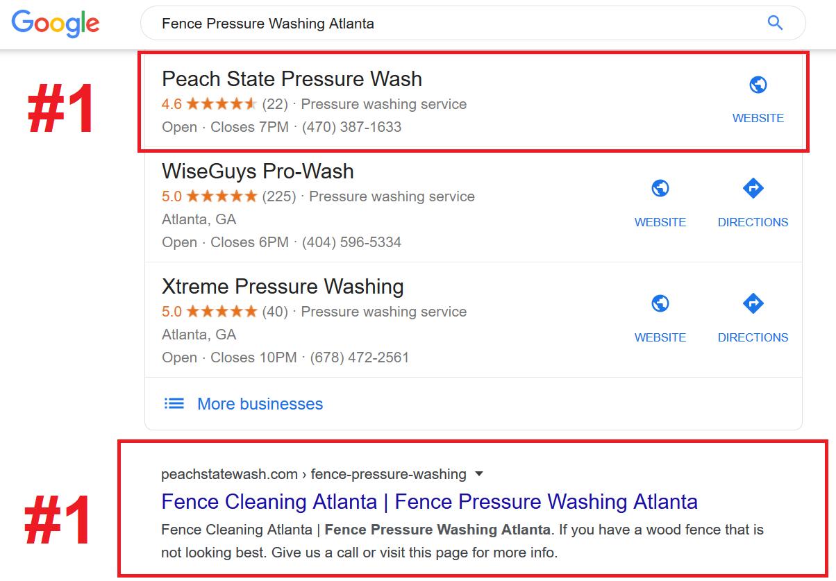 Pressure Washing Online Marketing
