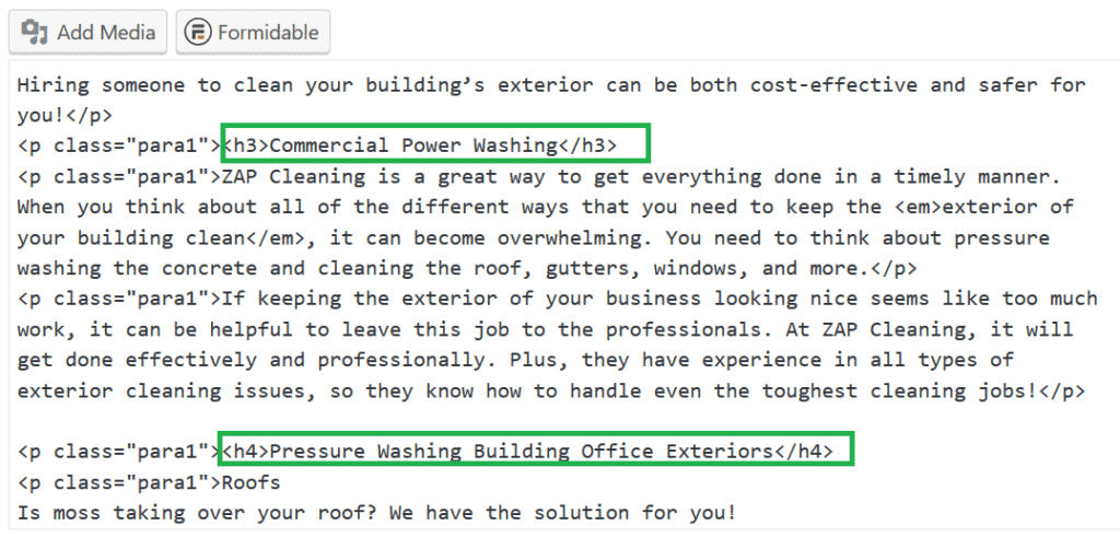 Search Engine Marketing Power Washing Contractors