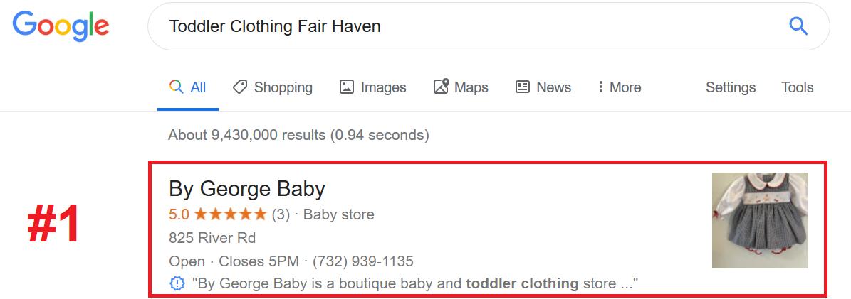 Toddler Clothing SEO