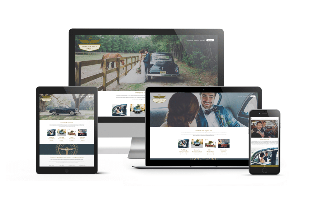 Wedding Transportation Website Design